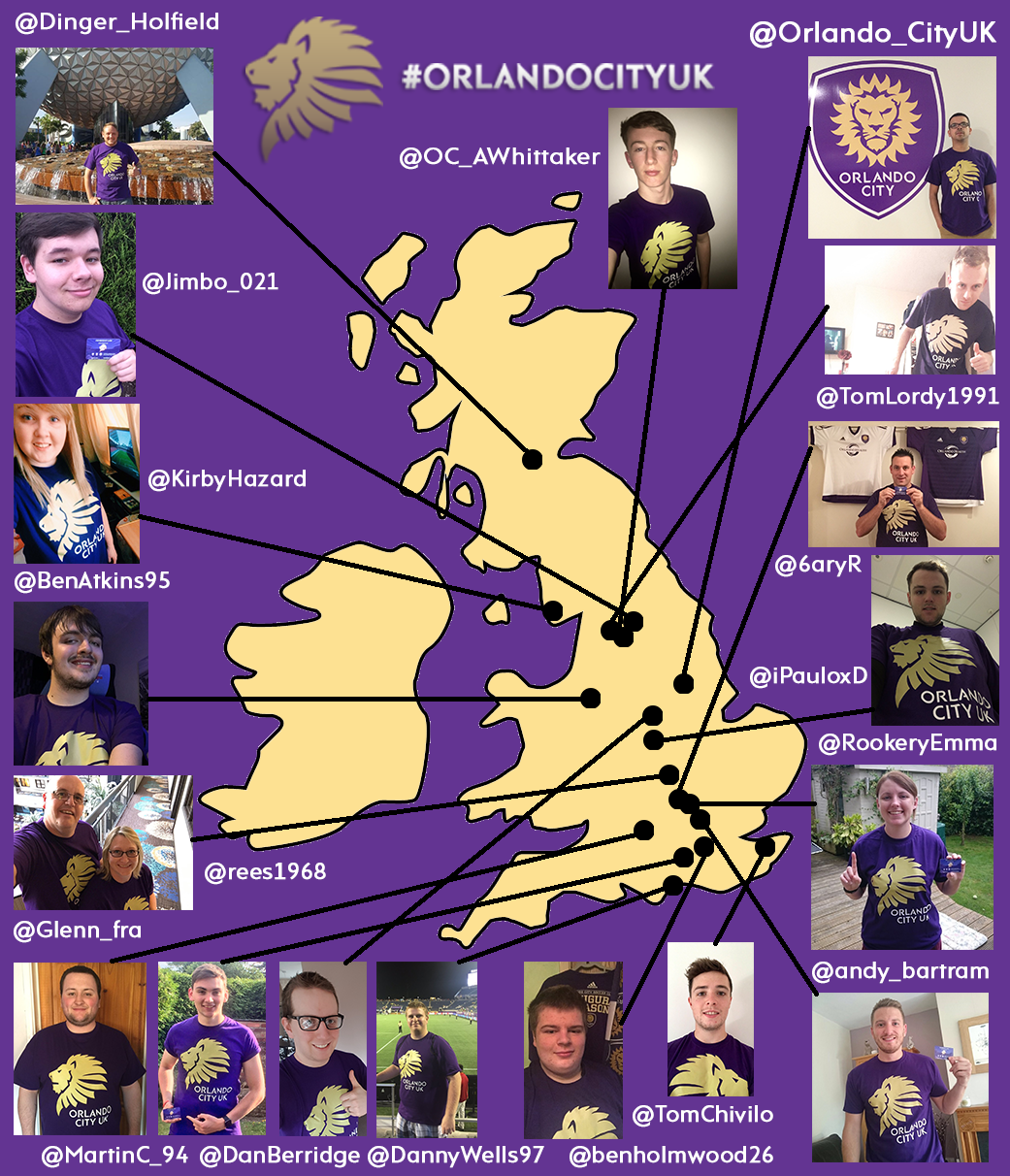 Orlando City UK Fan Map - 230817