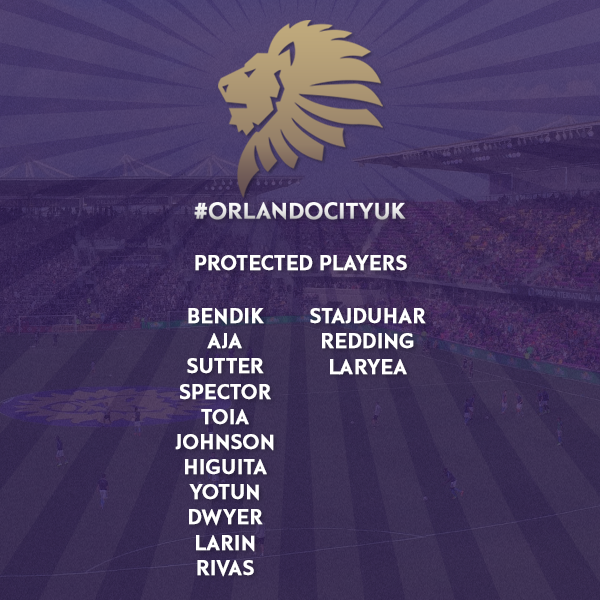 2017 Orlando City SC Protected Player List